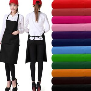 Unisex Apron Double Pocket Chef Butcher Kitchen Cooking Catering Baking Bbq