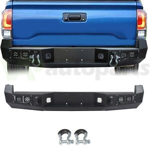 For Toyota Tacoma 2005 2015 Offroad Rear Step Bumper Assembly W Lights D Rings