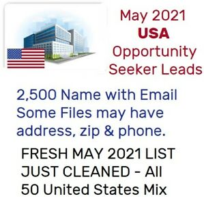 May 2021 Opportunity Seekers 2500 Leads Usa Email Database Mlm Network Marketing