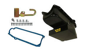 Weiand Oil Pan Kit 8qt Black Finish For 1958 1979 Small Block Chevy