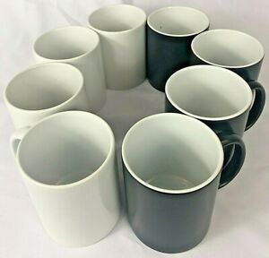 8pcs 11oz Blank Sublimation Mugs 4pc Black glossy color Changing 4pc White