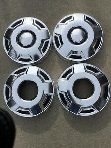 4 Ford F250 E250 F350 E350 Dog Dish Hubcaps Van Truck Set Center Caps 4x4