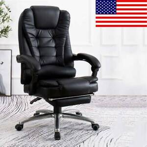 Executive Computer Office Chair Desk Seat Swivel Leather Recliner Gaming Chairs