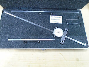 Starrett 450 Dial Depth Gage W Case Extra 7 12 Base Extension Mint F360