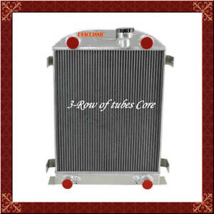 3 Row Aluminum Radiator For Ford Model A B Flat Head V8 Engines At Mt 1930 32