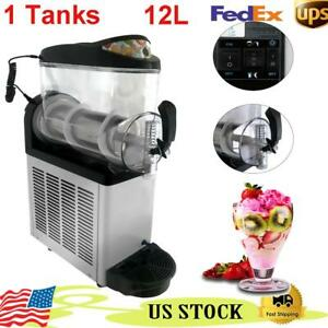 Commercial 12l Slush Making Machine Frozen Drink Machine Ice Maker Single Tanks