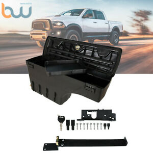 Truck Wheel Well Storage Tool Box W lock Left For 02 18 Dodge Ram 1500 2500 3500