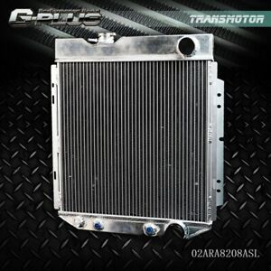62mm Aluminum Racing Radiator Fit For 64 66 Ford Mustang Shelby V8 L6 Mt At