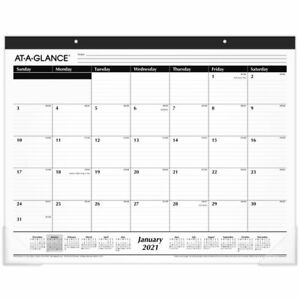 At a glance Monthly Desk Pad 12 Months 21 3 4 X 17 January 2021 To December