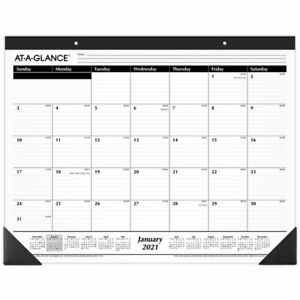 At a glance Monthly Desk Pad Calendar 21 3 4 X 17 January 2021 To December