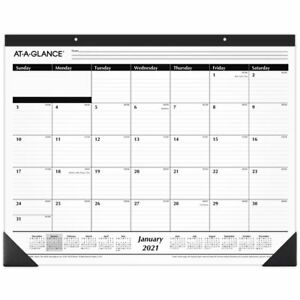 At a glance Ruled Monthly Desk Pad 24 X 19 January 2021 To December 2021