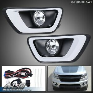 Clear Lens Bumper Driving Fog Light Lamp W Bezel Switch For 15 19 Chevy Colorado