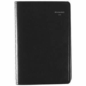 At a glance Dayminder Daily Appointment Book 5 X 8 Black January 2022 To