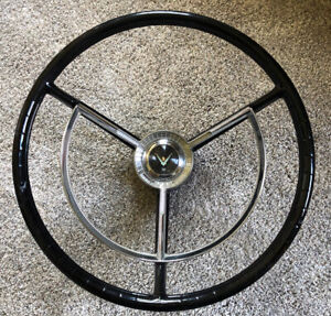 1950s Ford 17 Steering Wheel With Thunderbird Horn Ring