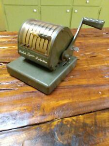 Paymaster Check Writer With Key Tested Working Good Condition Vintage