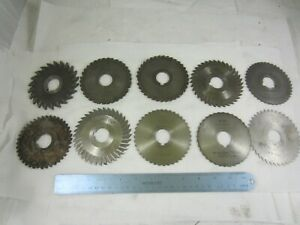 Lot Of 10 Milling Horizontal Slitting Saw Mill Cutters 1 Arbor