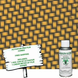 Hydrographic Film Water Transfer Hydro Dip 6oz Activator Gold Carbon Dip Kit
