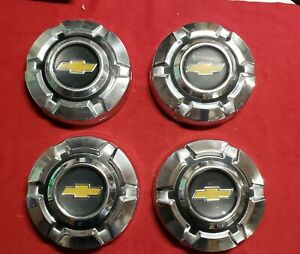 69 74 Chevy C10 1 2 Ton Dog Dish Hubcaps Set Of Four Chrome 10 5 Inch