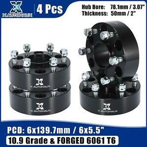 4pcs 6 Lug 6x5 5 2 Thickness Wheel Spacer Adapter For Nissan Titan 04 15