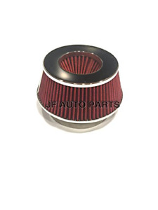 4 Cold Short Ram Intake High Flow Cone Red Air Filter 3 3 5 Reducer Red