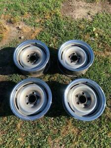 Chevy Gmc Gm Truck Rally Wheel 15 5 Hole 15 Inch Steel Rim With Beauty Rings