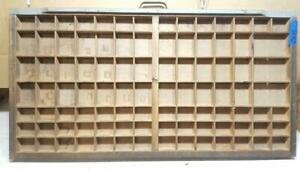 Letterpress Wood Printer Type Drawer Double Cap Tray Shadowbox Ca49 12