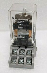 Potter Brumfield Kul 11d15d 12 Latching Relay With Din Rail Base