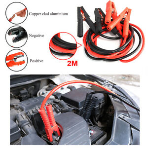 Heavy Duty 2m Car Van Suv Battery Booster Cable Emergency Power Jumper 1000amp