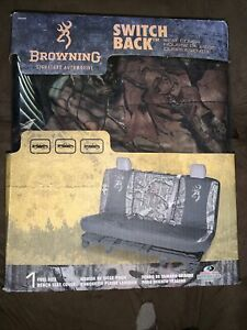 Browning Mossy Oak Break up Infinity Switch Back Camo Full Size Bench Seat Cover