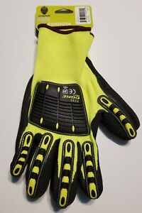 Lot Of 6 Ogre Impact 7735 Oil Gas Safety Work Gloves Mens Size Large Ppe New