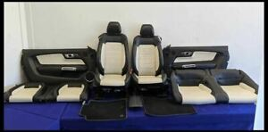 2015 2017 Ford Mustang Gt Oem Seats Panels Mats Front Back Leather 50th Year