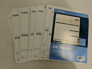Adams Job Invoice Forms Nc2817 2 part Carbonless White 8 5 In X 11 In About 50