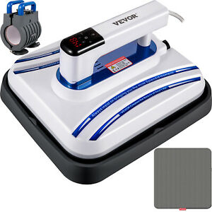 Heat Press Machine Easy Press 12 X 10 Blue Portable For Diy T shirt Hat And Caps