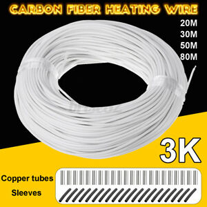 Carbon Fiber Heating Wire Silicone Rubber Infrared Heating Cable 3k Home 15w