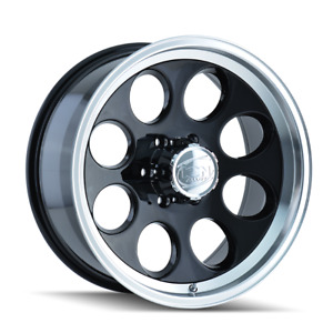 15 Inch 5x139 7 Wheels Rims Black Machined 38mm Ion 171