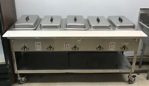 Duke Manufacturing 5 Compartment Electric Steam Table With Pans And Covers