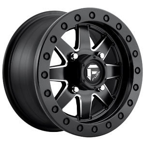 14 Inch 4x5 39 Wheel Rim 14x7 38mm Black Milled Fuel Utv D938 Maverick Bl