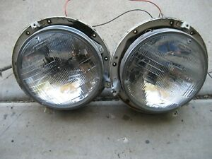 1957 Gm Buick Cadillac Chevy Pontiac Oldsmobile Headlight Assemblies pair