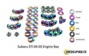 Neo Burned Dress Up Bolt Kit For 2004 2005 Subaru Impreza Wrx Sti engine Bay