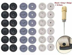 Y Axis Seat Belt Button Buckle Clip Stop Universal Fit Stopper Kit 18 Sets