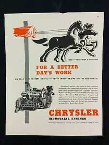 Chrysler Industrial Engines Magazine Ad 10 75 X 13 75 Young Rubicam