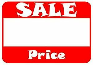 504 Pcs Self Adhesive Sale Price Labels w clear Space For Marking Discounted