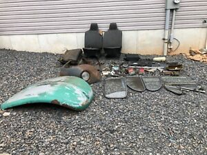 Classic Vw Beetle Parts Lot Hood Windows Dash And More