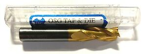 Osg 3 8 Solid Carbide End Mill Tin Coated 3 Flute Usa Made