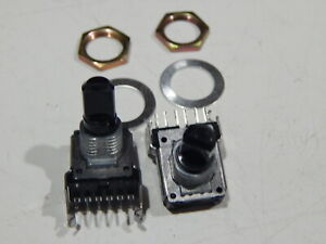 12mm Square Two in one Dual Rotary Pc Mount 10k 6 Pin Lot Of 2 Potentiometer s