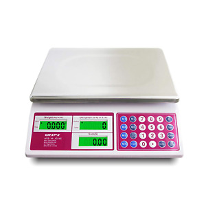 Digital Commercial Price Scale 66 Lbs For Food Meat Fruit Produce With Green Bac
