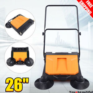 26 Industrial Hand Push Sweeper Pavement Sweeping Walk behind Sweeper Cleaner