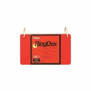 Mead Ringdex Index Cards Asst 3x5 80 Pk 63072 Pack Of 8