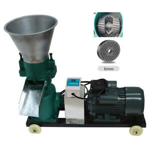 220v Electric Chicken Feed Pellet Mill Machine 6mm Plate Semi automatic Operate