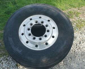 2 Steer Semi Truck 22 5 Rims And Tires 10 Hole